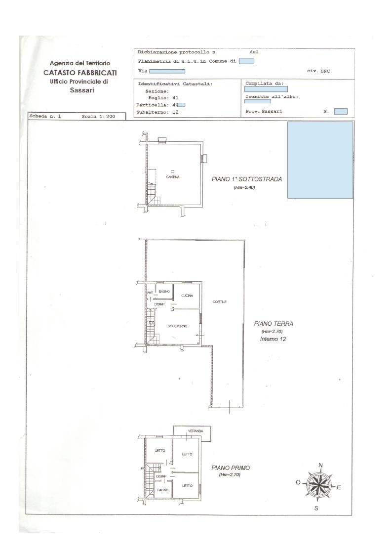 Planimetria catastale for Superficie catastale