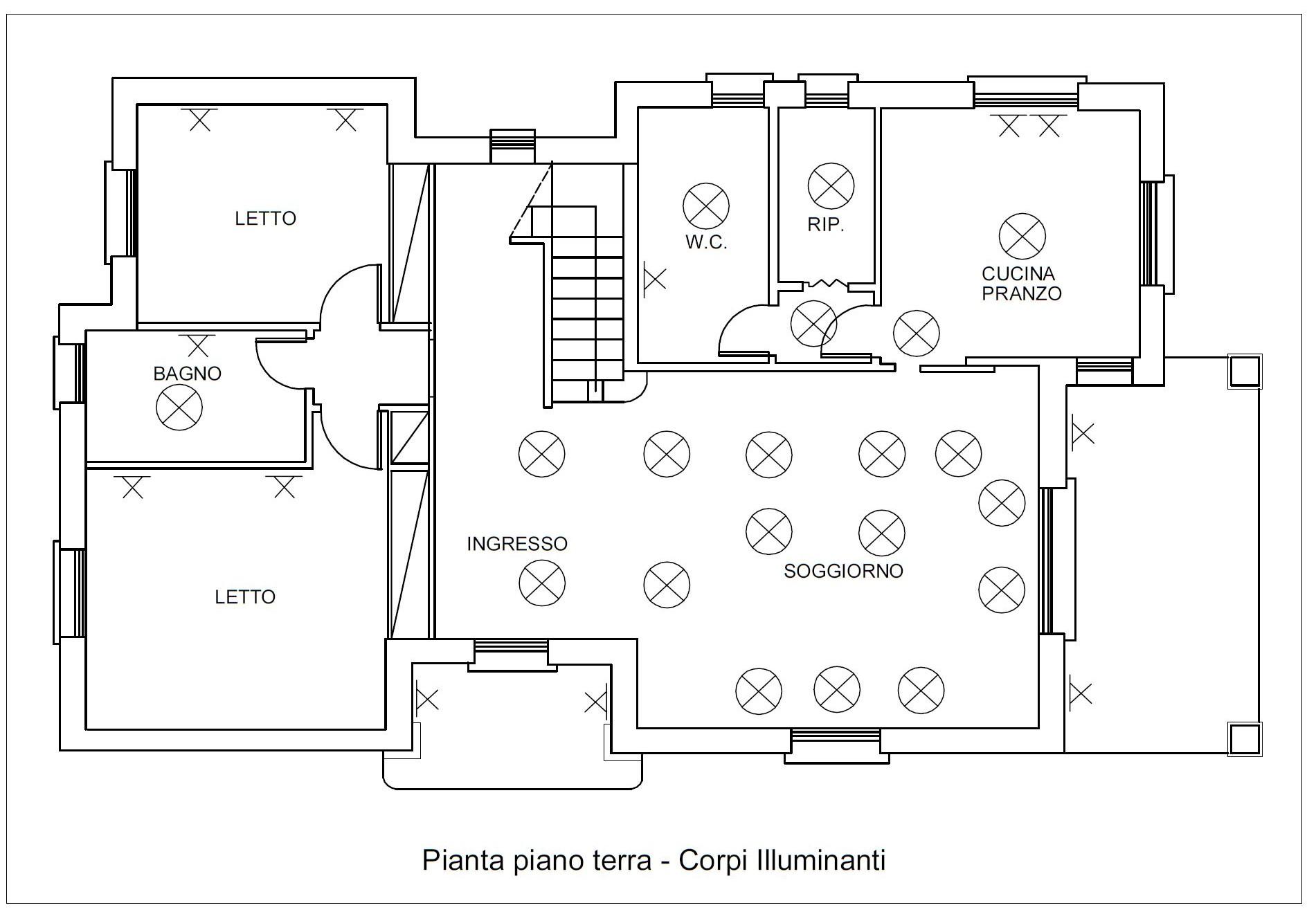 Schema Elettrico Per 4 Punti Luce : Progettazione impianti elettrici archdesignonline