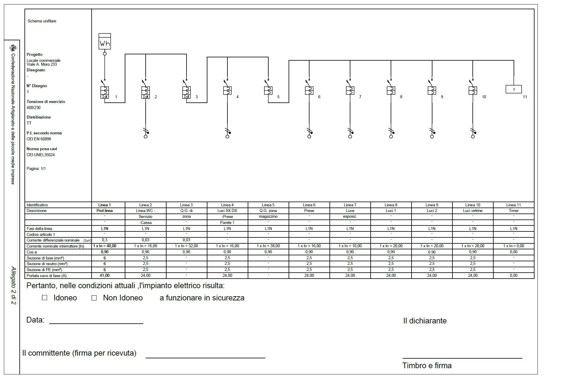 Schemi Elettrici Unifilari Esempi : Progettazione impianti elettrici archdesignonline